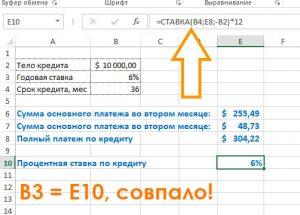 процентная ставка по кредиту