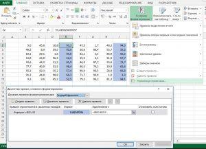 управление правилами форматирования